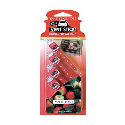 Yankee Candle Vent Stick Air Freshener - Macintosh CASE PACK 6
