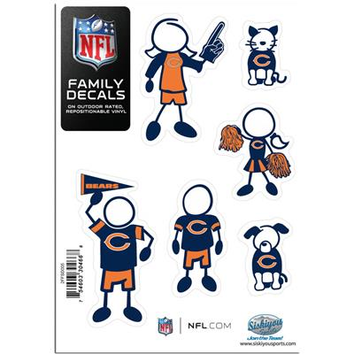 Family Car Decals - Chicago Bears