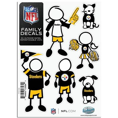 Family Car Decals - Pittsburg Steelers