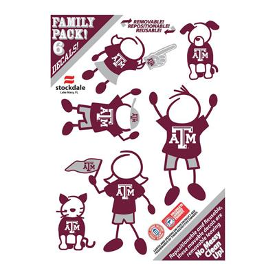 Family Car Decals - Texas A&M
